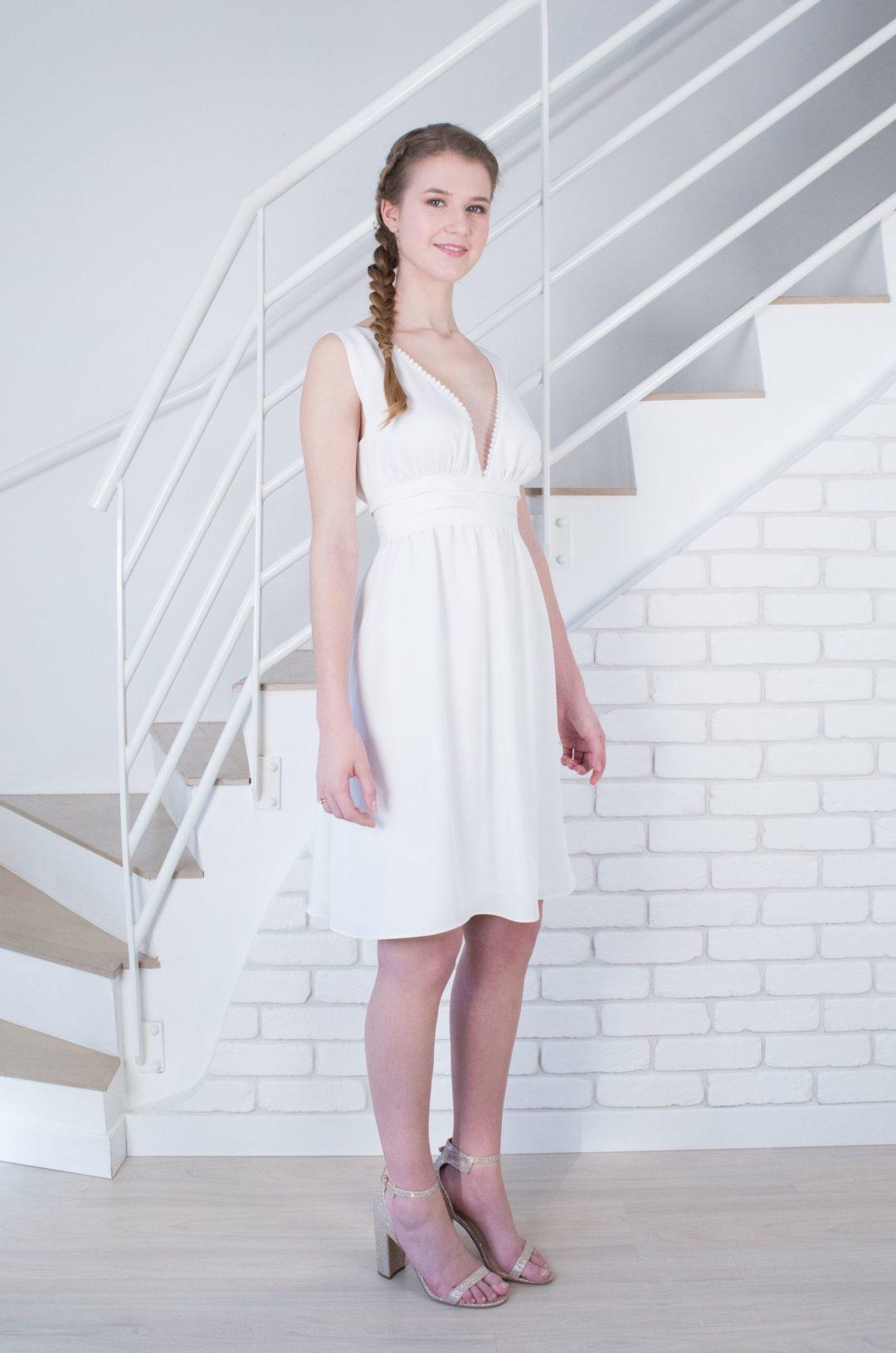 Robe Anemone Blanc Casse